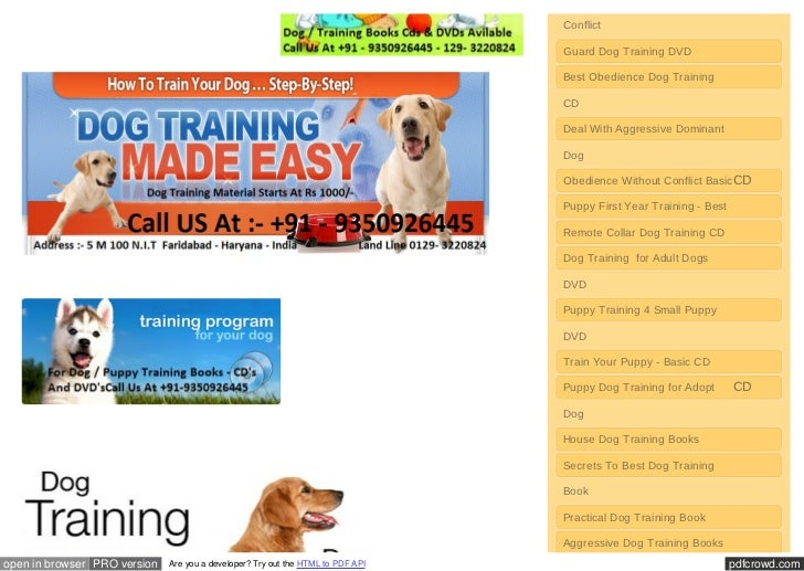 Training Deal Dogs Book