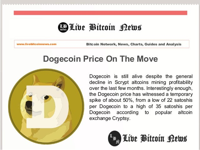 Dogecoin Price On The Move