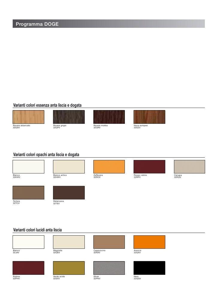 Programma DOGE     Varianti colori essenza anta liscia e dogata   Rovere sbiancato            Rovere grigio      Rovere mo...