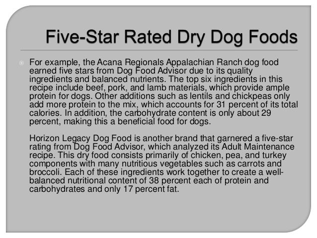 Star Rated Dry Dog Food
