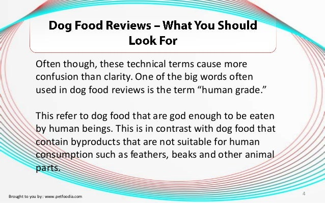 Dog Food Suitable For Human Consumption