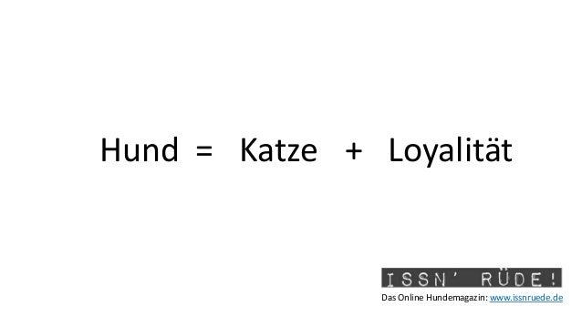 Das Online Hundemagazin: www.issnruede.de Hund = +Katze Loyalität