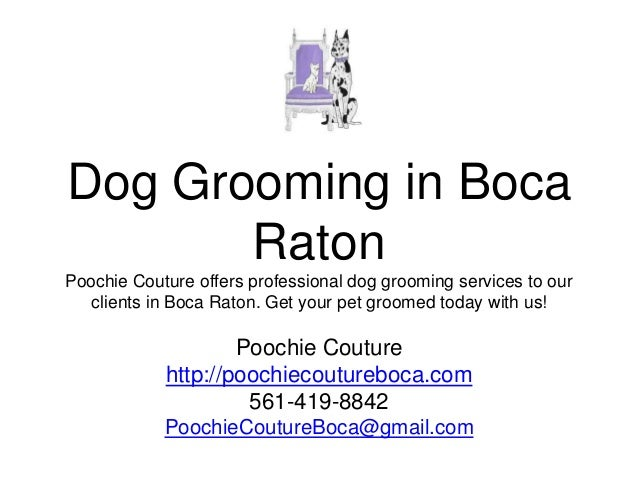 Dog Grooming in Boca Raton Poochie Couture offers professional dog grooming services to our clients in Boca Raton. Get you...
