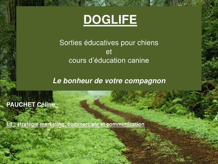 DOGLIFESorties éducatives pour chienset cours d'éducation canineLe bonheur de votre compagnon<br />PAUCHET Céline<br />L3 ...