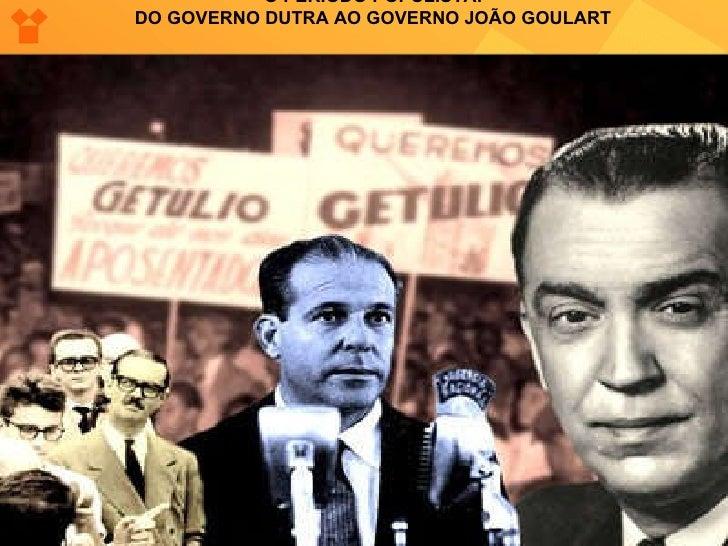 O PERÍODO POPULISTA:  DO GOVERNO DUTRA AO GOVERNO JOÃO GOULART