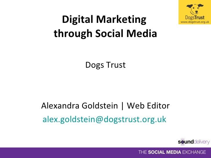 <ul><li>Dogs Trust </li></ul><ul><li>Alexandra Goldstein | Web Editor </li></ul><ul><li>[email_address]   </li></ul>Digita...