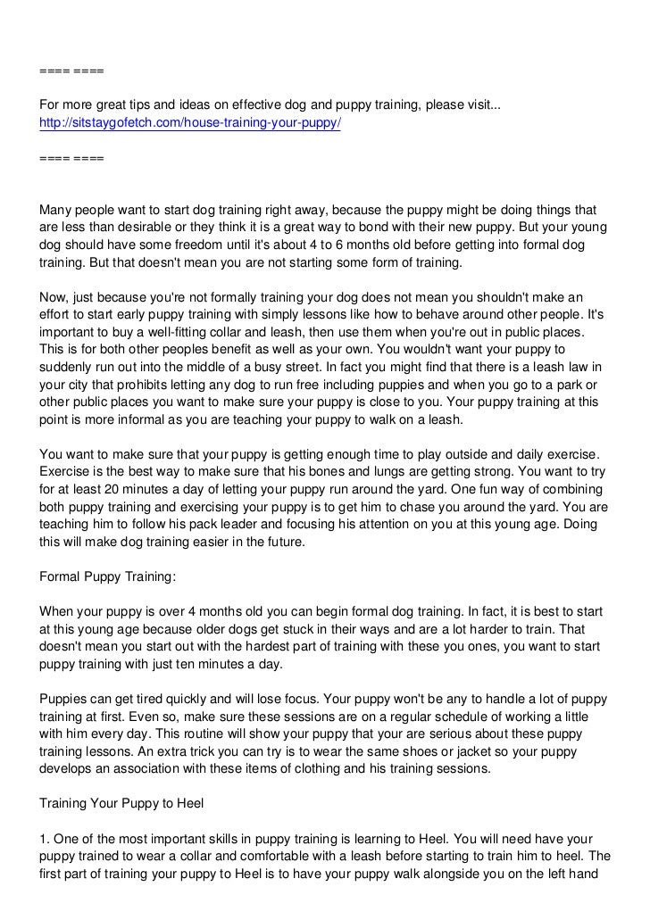 ==== ====For more great tips and ideas on effective dog and puppy training, please visit...http://sitstaygofetch.com/house...