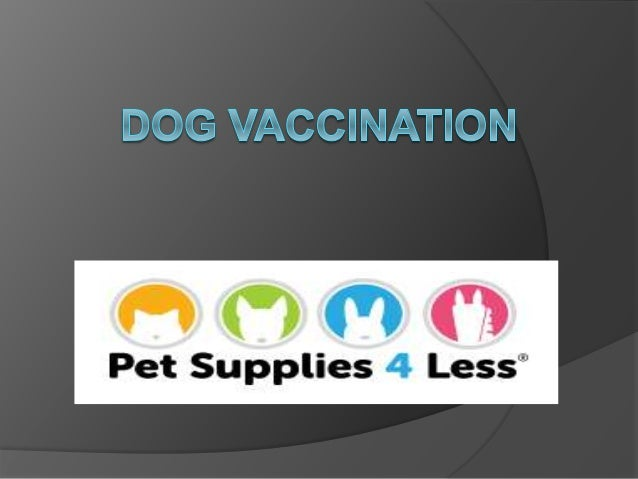 WHAT IS DOG VACCINATION Programs supporting regular vaccination of dogs have contributed both to the health of dogs and to...