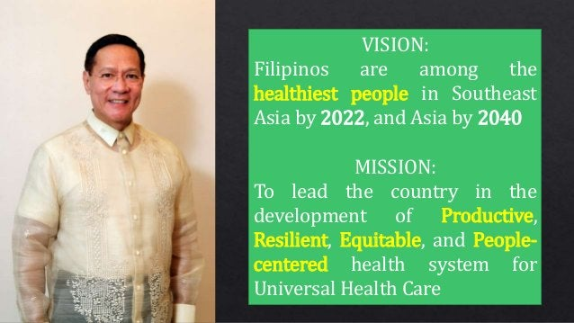 From birth to their golden years, Filipinos can count on DOH to give them the best health care and attention possible. Lik...