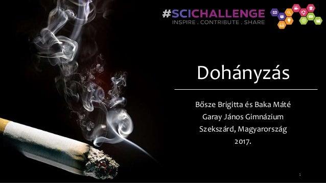 Dohányzás Bősze Brigitta és Baka Máté Garay János Gimnázium Szekszárd, Magyarország 2017. 1