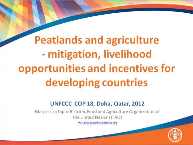 Topics covered1. Importance of peatlands for   mitigation2. Priority areas: agriculture and   livelihoods3. Incentives for...