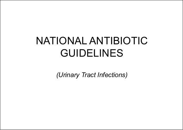 DOH National Antibiotic Guidelines 2016 (UTI) Slide 2