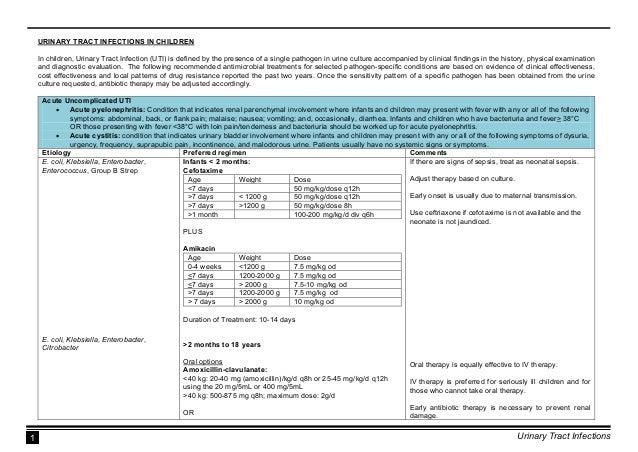DOH National Antibiotic Guidelines 2016 (UTI) Slide 3