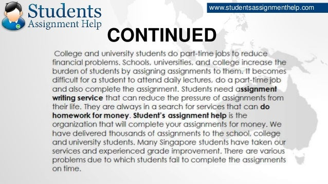 Do assignment for money