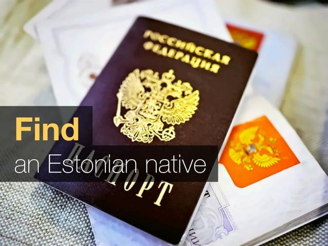 Find an Estonian native