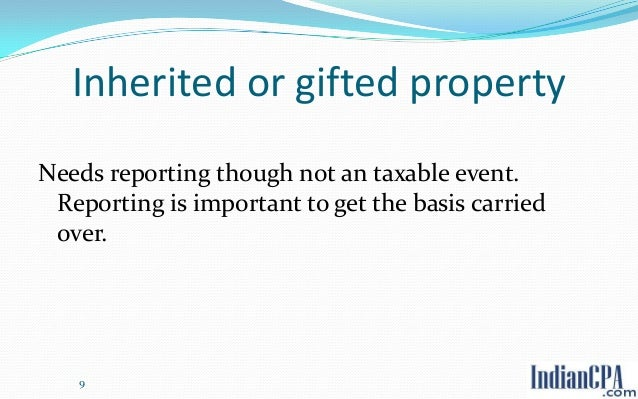 Capital Gains Tax On Gifted Property India