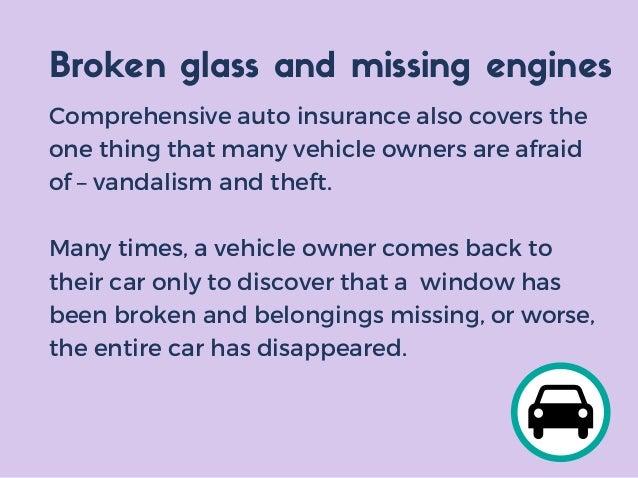 Comprehensive Car Insurance Belongings