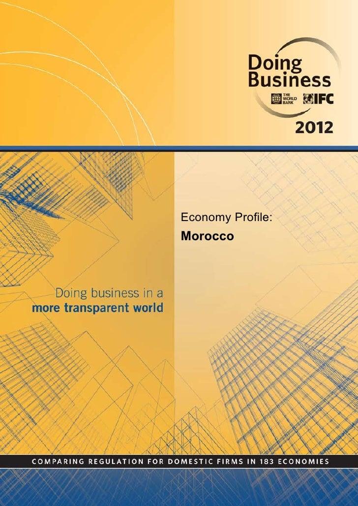 Economy Profile:Morocco