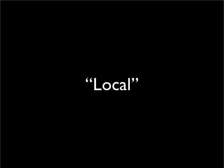 Doing Local Right Slide 2