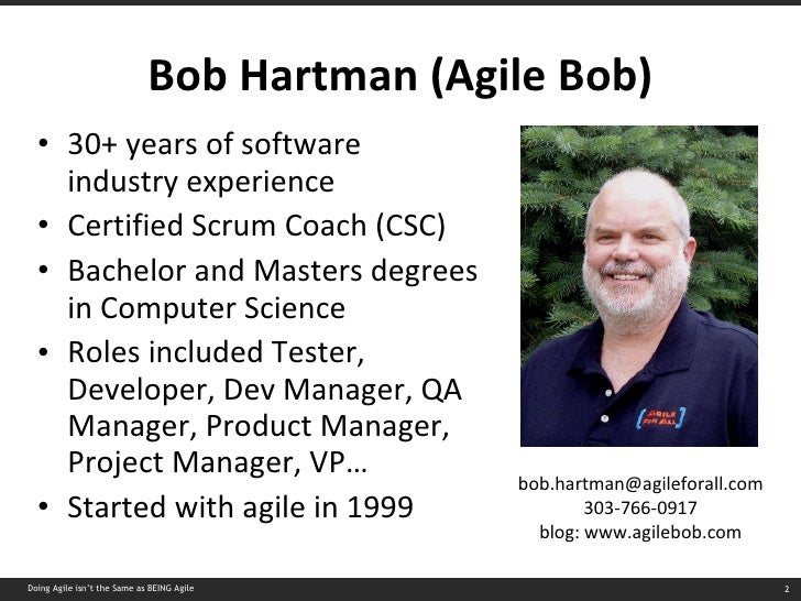Doing Agile Isnt The Same As Being Agile Slide 2