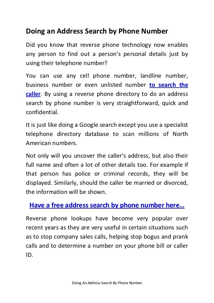 search company address by phone number