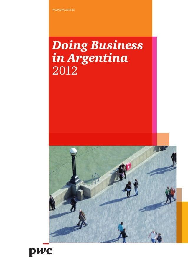 www.pwc.com/arDoing Businessin Argentina2012