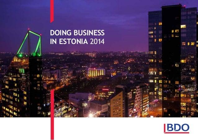 DOING BUSINESS IN ESTONIA 2014