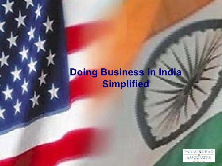 Doing Business in India Simplified