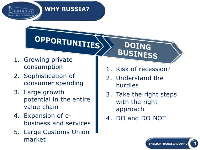 doing business in russia Doing business in russia share every year our lawyers produce doing business in russia - a general guide for companies operating in or considering investment into the russian federation.