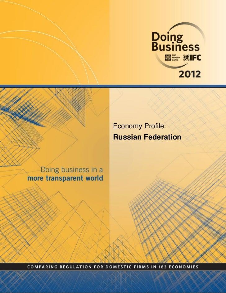 Economy Profile:Russian Federation