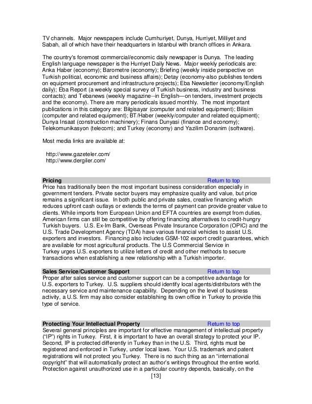 doing business report 2014 turkey