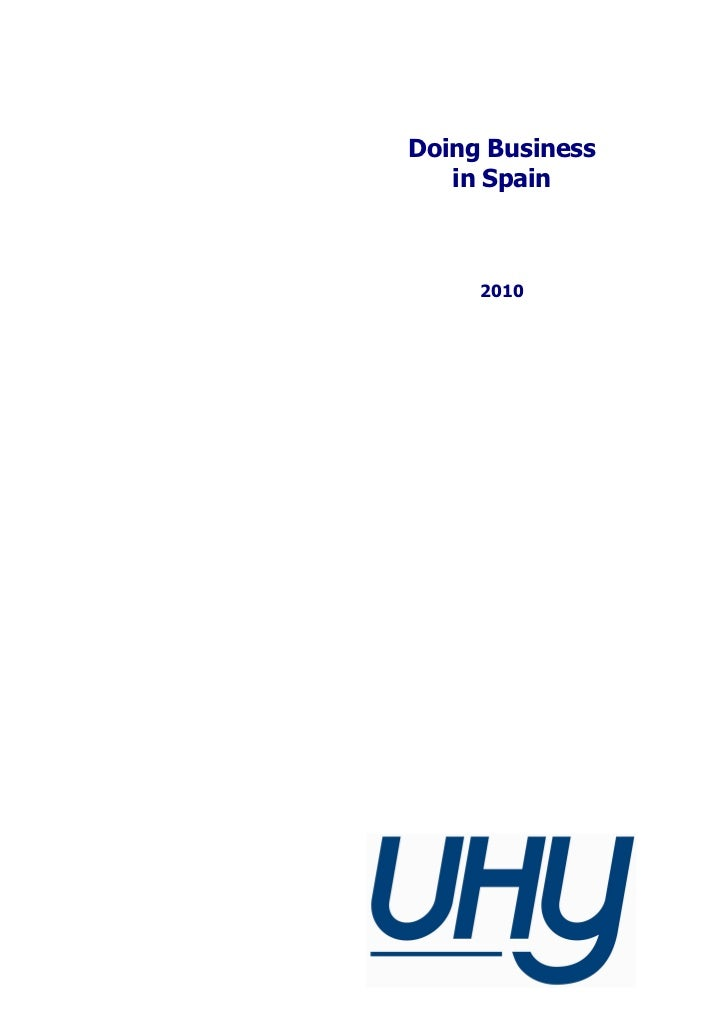 Doing Business   in Spain     2010