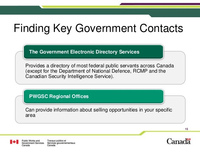 Doing Business With The Goc