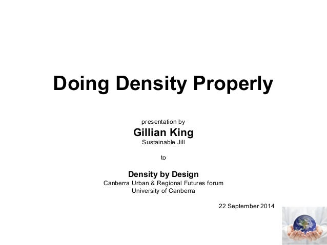 Doing density properly