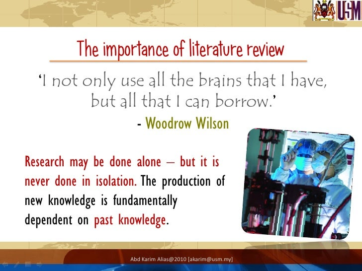 the importance of literature review in a dissertation