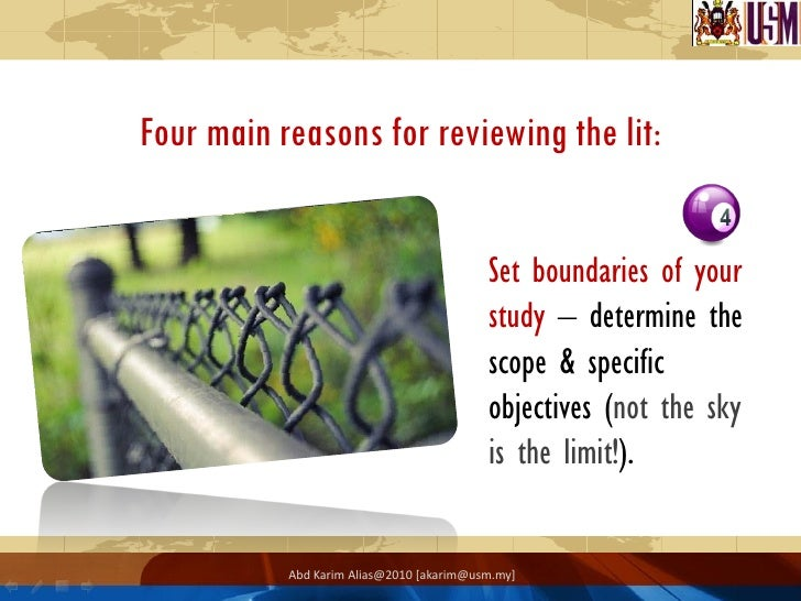 reasons for doing literature review The process of reviewing the literature and writing a literature review can be complicated and lengthy doing a literature review.