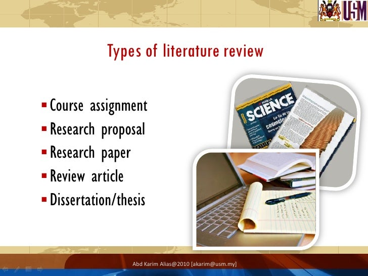 Types of research papers literature review