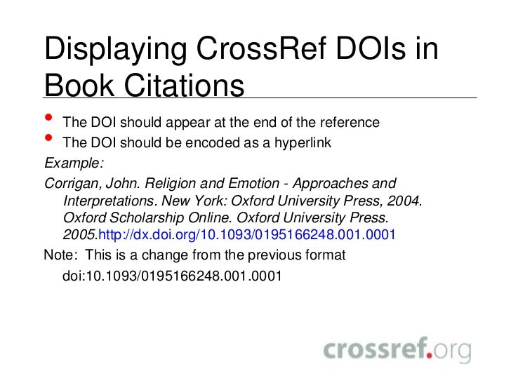 Crossref Dois For Ebooks Making It Easier For Readers To Find Your S