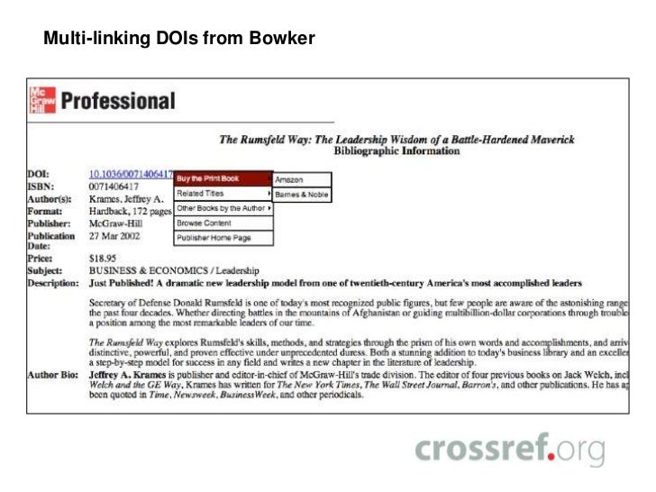 Crossref dois for ebooks making it easier for readers to find your s 36 fandeluxe Choice Image