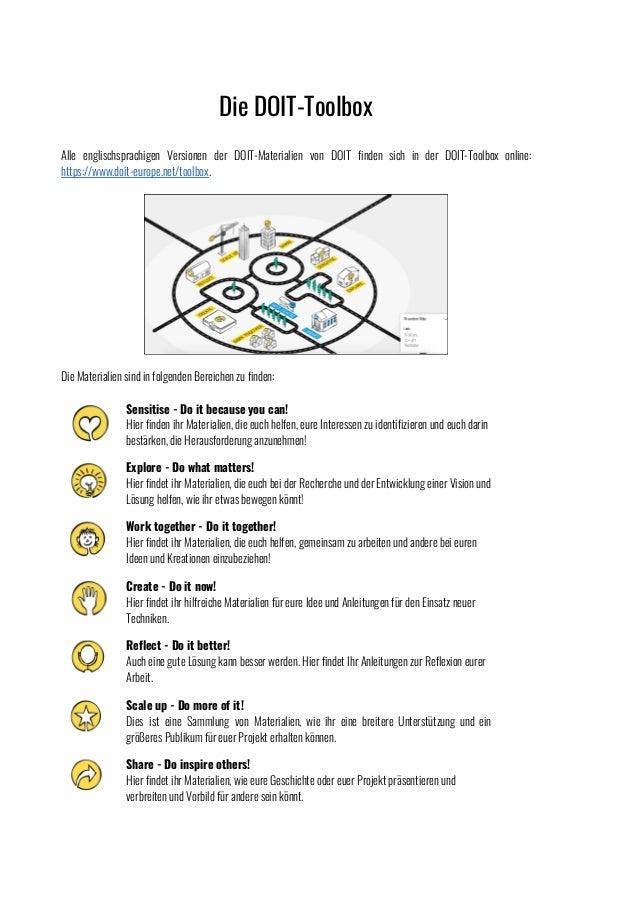 [German] Selection of DOIT toolbox materials Slide 3