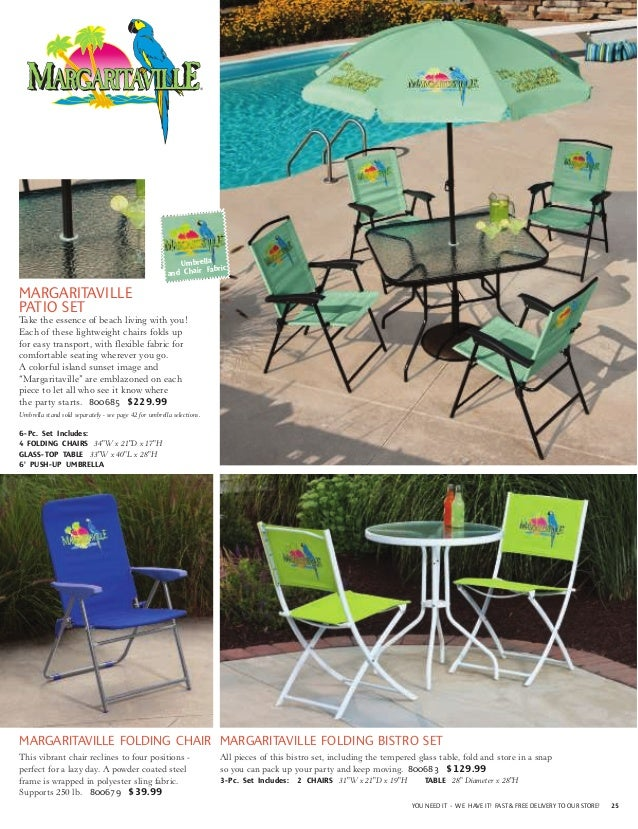 ... OUTDOOR LIVING; 25. Umbrella And Chair Fabric MARGARITAVILLE ...