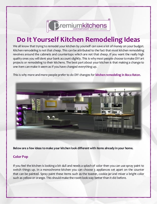 Do it yourself kitchen remodeling ideas do it yourself kitchen remodeling ideas we all know that trying to remodel your kitchen by solutioingenieria Image collections