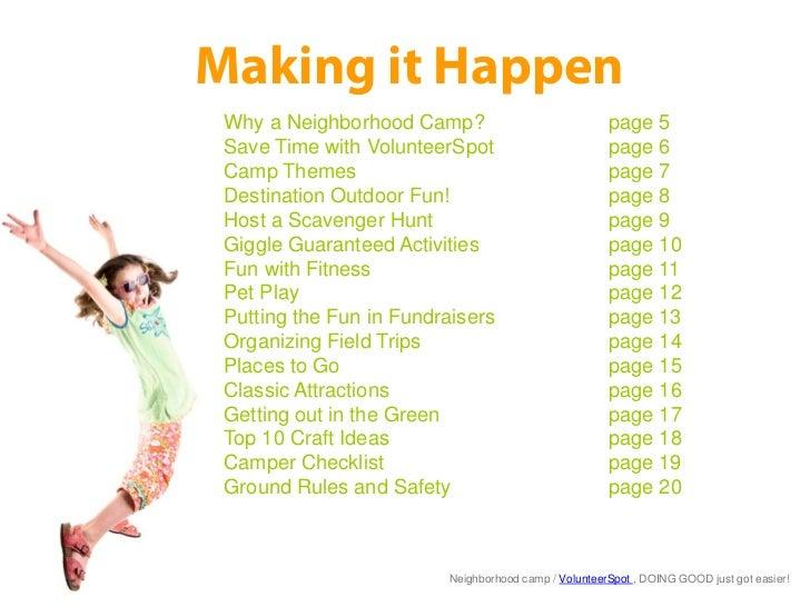 Do It Yourself Neighborhood Summer Camp