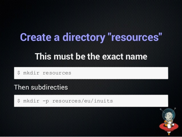 """What did we do? In the directories resources, we created a directory for the """"inuits.eu"""" namespace: """"eu/inuits"""". Namespace..."""