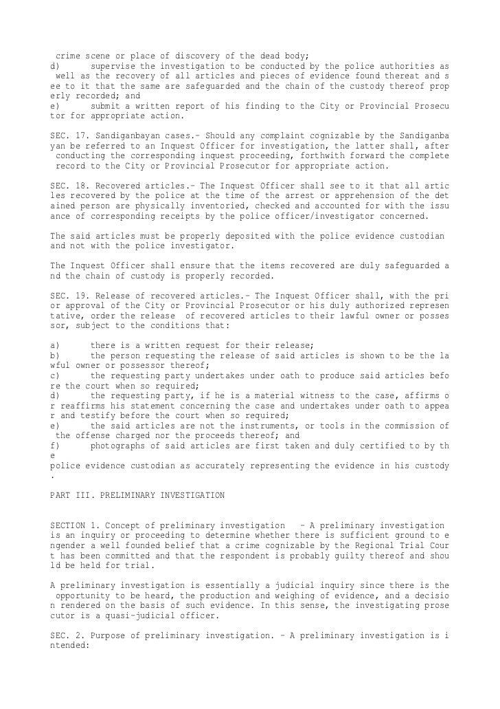 DOJ National Prosecution Service Manual
