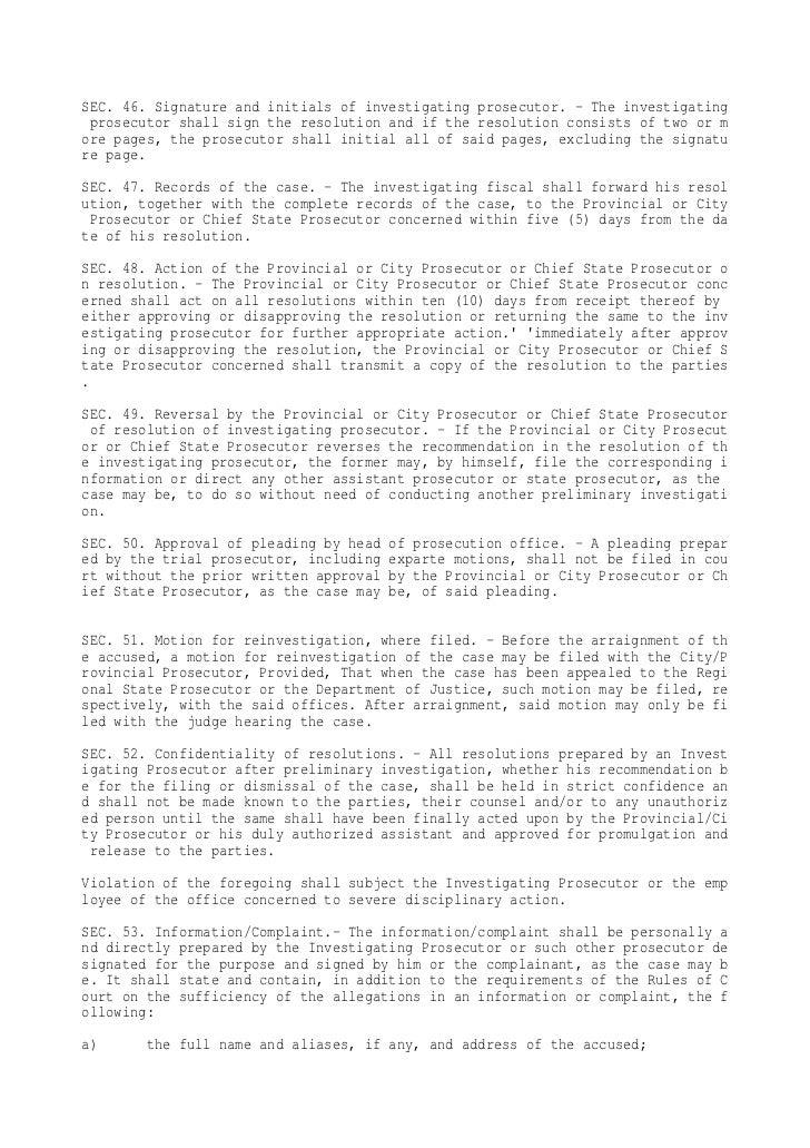 doj national prosecution service manual rh slideshare net national prosecution service manual philippines department of justice national prosecution service manual