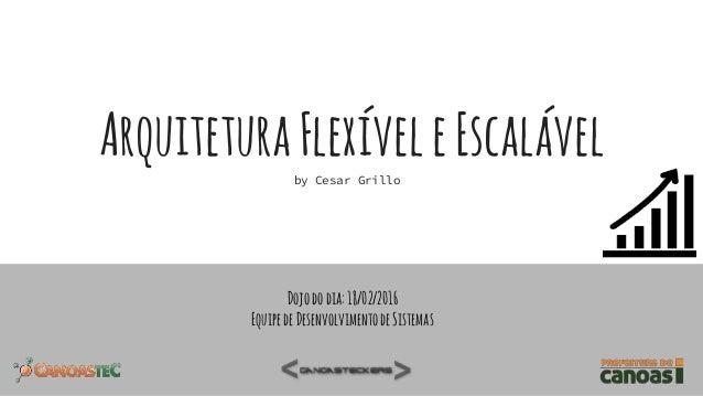 ArquiteturaFlexíveleEscalávelby Cesar Grillo Dojododia:18/02/2016 EquipedeDesenvolvimentodeSistemas