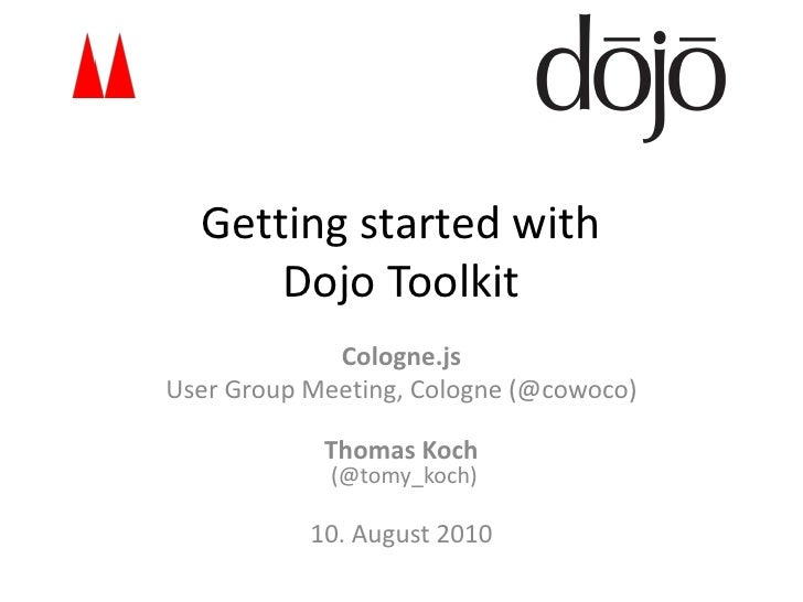 Getting Started with Dojo Toolkit