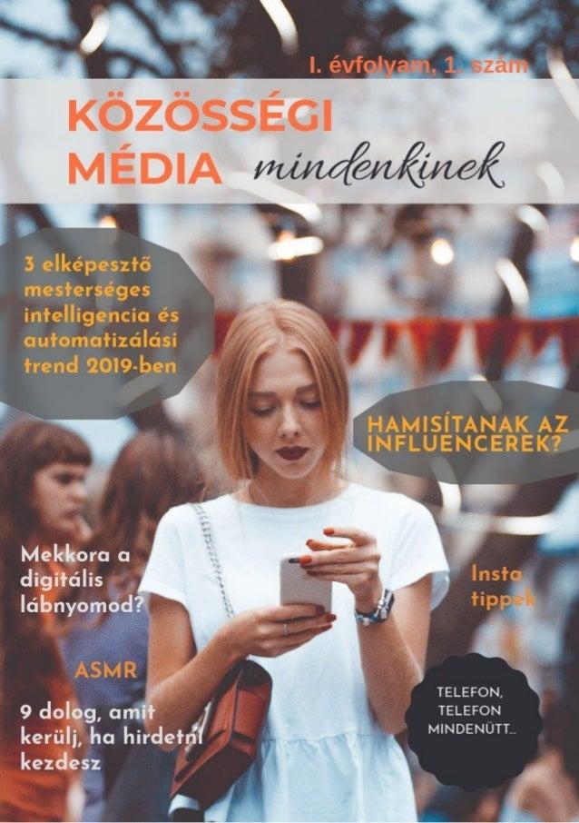 Közösségi média mindenkinek magazin - előnézet