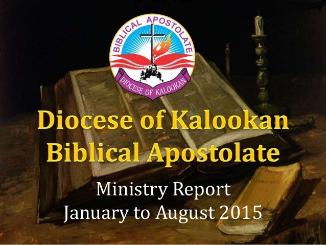 Ministry Report January to August 2015